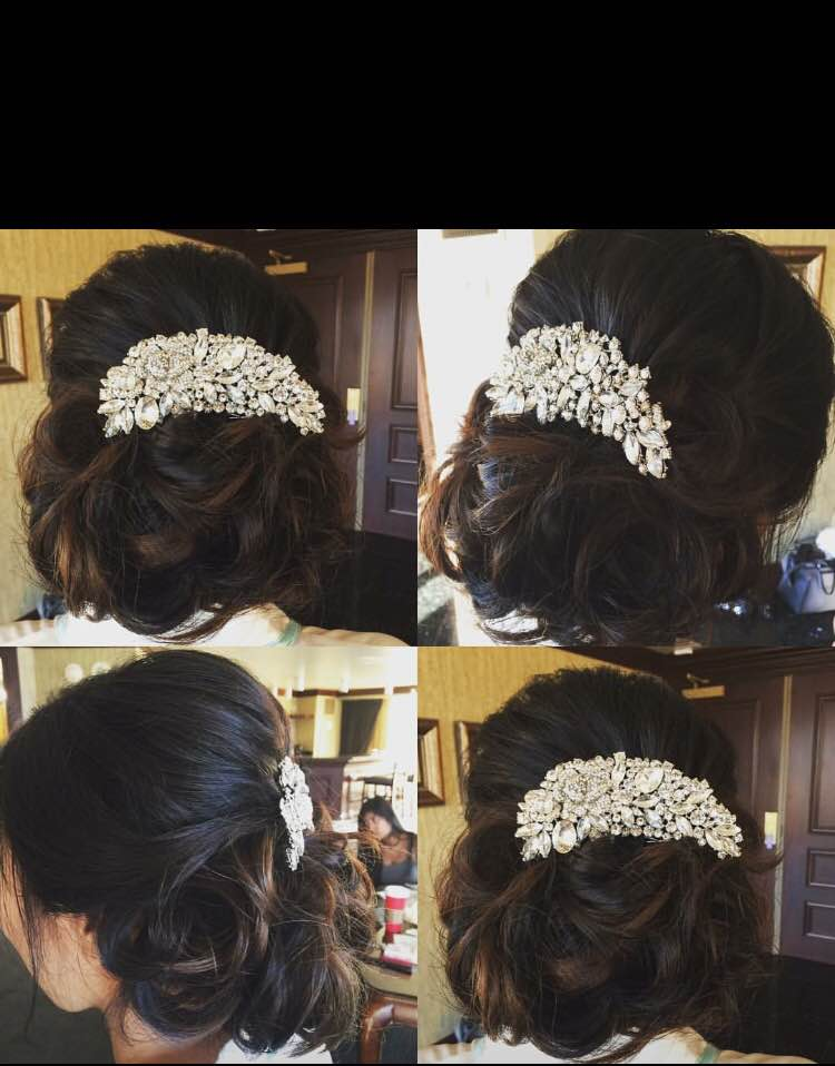 asian bridal hair